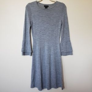 Adrienne Vittadini 100% Merino Wool Sweater Dress